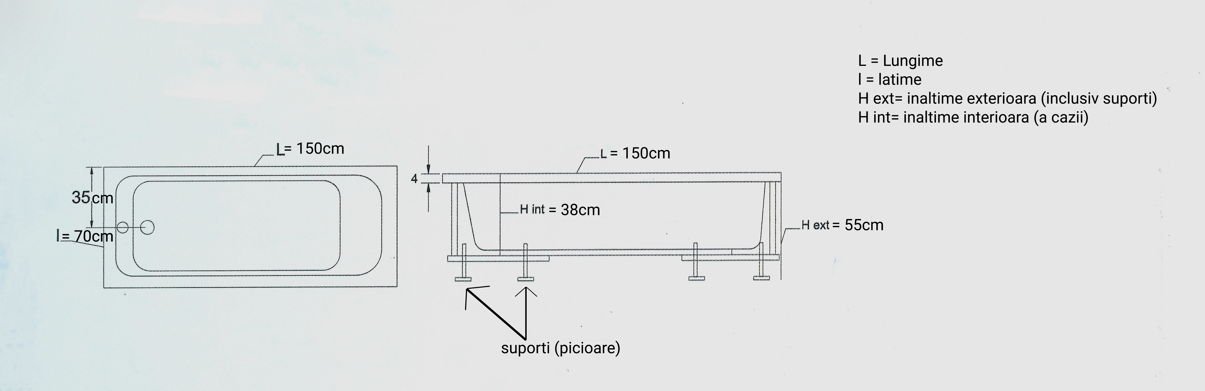 schita tehnica cada 150 70 cm MIKASS