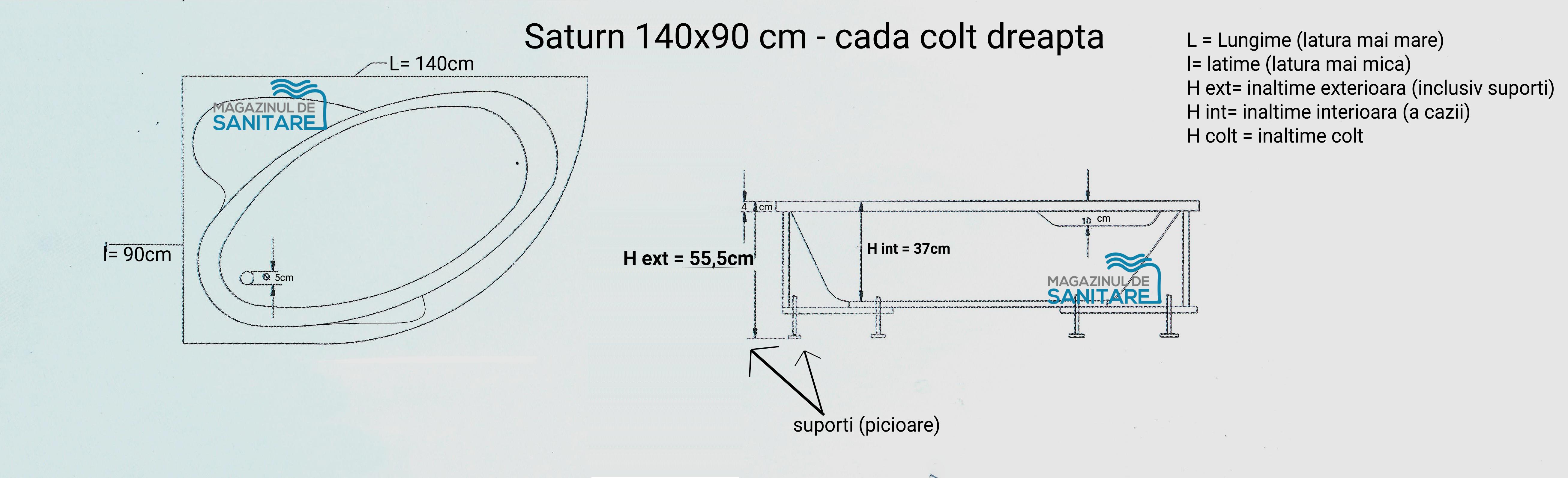 schita tehnica cada 140 90 cm SATURN