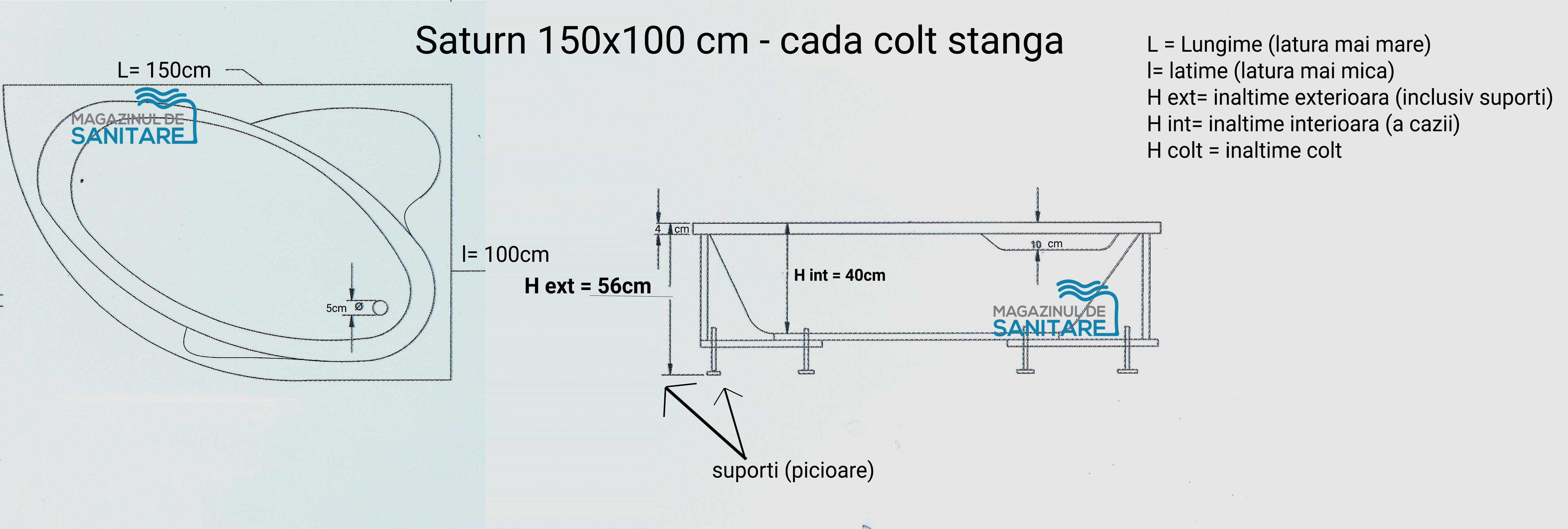 schita tehnica cada 150 100 cm SATURN