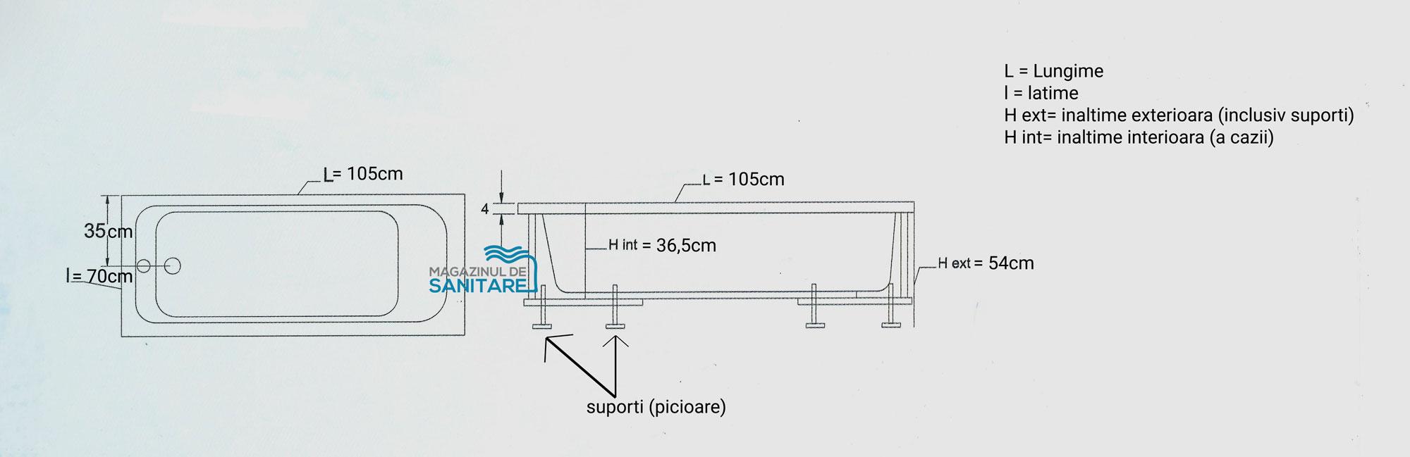 schita tehnica cada 105 70 cm mikass