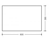 Oglinda Hewi 600x390x6 mm2