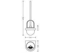 Set perie toaleta si recipient semisferic perie Hewi2