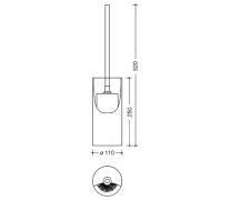 Set perie toaleta si recipient cilindric pentru perie Hewi2