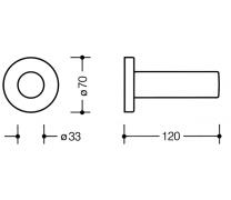 Suport orizontal hartie igienica 120mm Hewi2