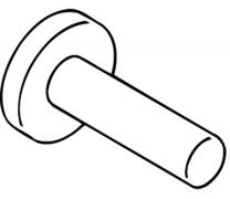 Suport orizontal hartie igienica 120mm Hewi3