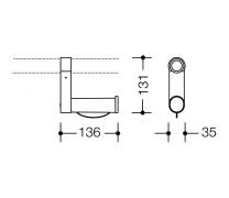 Suport poliamida hartie igienica (upgrade bara fixa) Hewi1