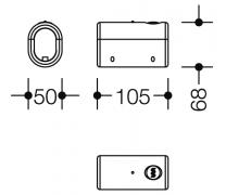 Buton upgrade bara fixa cu mecanism radio flush Hewi2