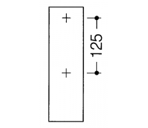 Bara rabatabila vertical sprijin lateral cu 2 butoane de actionare2