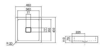 Lavoar 450x450 mm Alape1