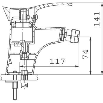Baterie bideu BTP6PVD Padwa PVD1