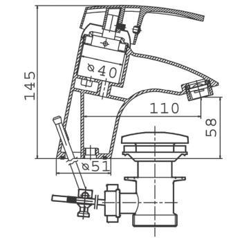 Baterie lavoar BTC2 Capri2