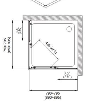 Cabina dus patrata 80x80x185 cm sticla clara Nigra2