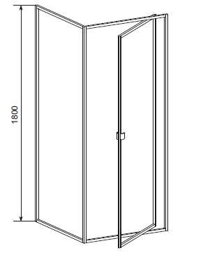 Cabina dus 90x90 cm, usa pivotanta, sticla securizata Elba1