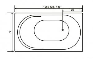 Cada 105x70 cm Rose6