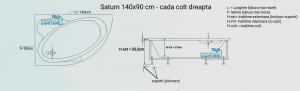 Cada 140x90 cm asimetrica Saturn2