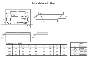 Cada 180x80 cm Nikoss cu tetiera3
