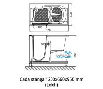 Cada baie dizabilitati stanga 120x66x95 cm1