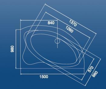 Cada colt asimetrica 150x98 cm Rab1