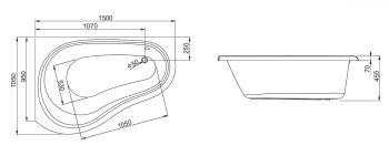 Cada colt asimetrica 150x105 cm Solo2
