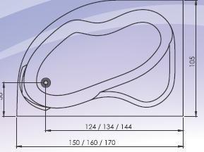 Cada colt asimetrica 170x105 cm Carina1