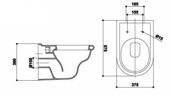 Vas WC suspendat 58x38 cm Godia1