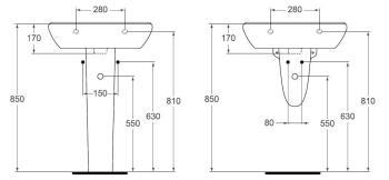 Lavoar suspendat 60x46 cm Style2