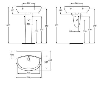Lavoar suspendat 60x46 cm Style3