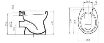 Vas WC 440 x 355 mm CIL1
