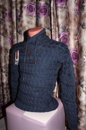 pulover-albastru