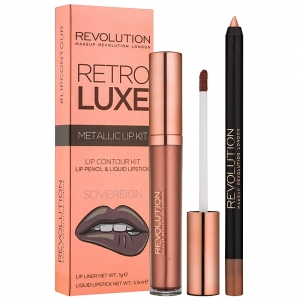Revolution Retro Luxe Metallic Lip Kit-Sovereign