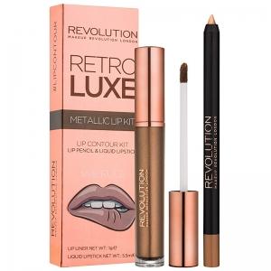 Revolution Retro Luxe Metallic Lip kit- We Rule