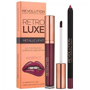 Revolution Retro Luxe Metallic Lip Kit-Worth It