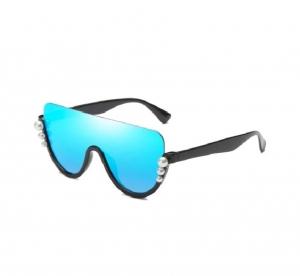 Ochelari de Soare Albastri cu Perle0