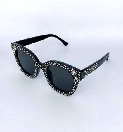 Ochelari de Soare Negri cu Stele19