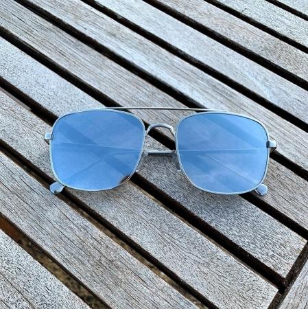 Ochelari de Soare Unisex Argintii Oglinda0