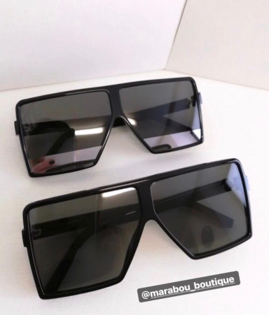 Ochelari de Soare Unisex Supradimensionati Negri6