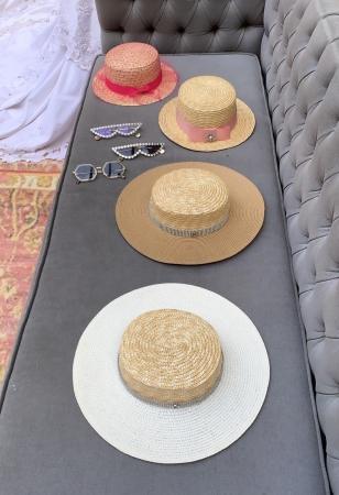 Canotiera Handmade din paie cu funda Roz deschissi albina8