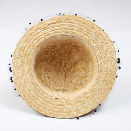 Canotiera Handmade din paie cu buline Negre15