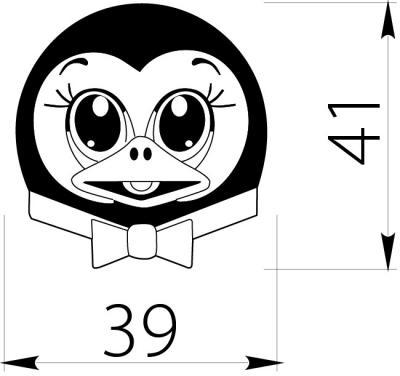 Buton copii pinguin