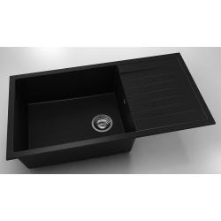 Chiuveta cu blat dreapta/stanga negru metalic 95 cm/49 cm (230)