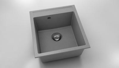 Chiuveta cu o cuva gri metalic 46 cm/51 cm (224)