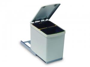 Cos de gunoi cu doua recipiente pentru corp de 300 mm latime