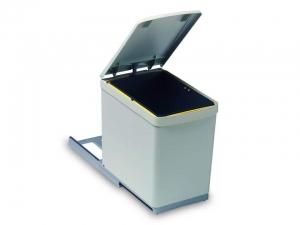Cos de gunoi cu un recipient 16 L pentru corp de 300 mm latime