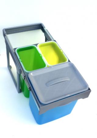 Cos de gunoi incorporabil Ekko Easy cu 1 compartiment x 16 litri si 2x8 litri