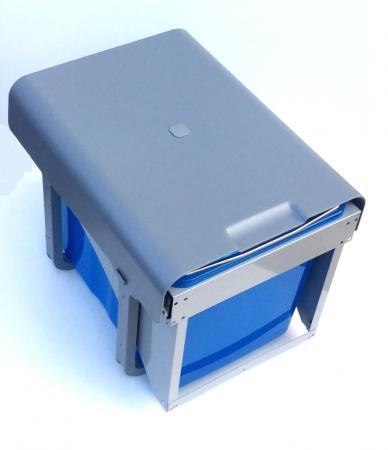 Cos de gunoi incorporabil Ekko Front cu 1 compartiment x 34 litri1