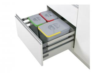 Cos de gunoi incorporabil in sertar, cu 3 recipiente, pentru corp de 600 mm latime