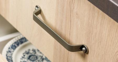 Maner pentru mobilier Button finisaj alama antichizata