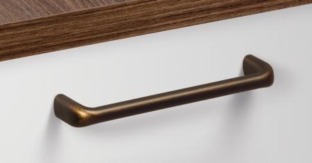 Maner pentru mobilier Redo L:137 mm finisaj alama antichizata