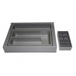 Organizator sertar pentru produse de machiaj ,tip VM , gri orion, 350 mm