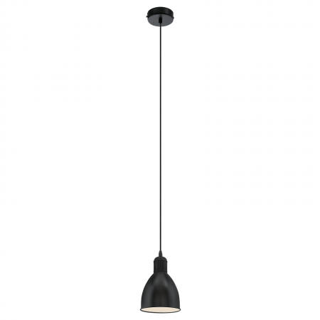 Pendul vintage finisaj negru diametru 155 mm
